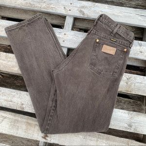 Vintage Wrangler chocolate high rise wedgie jeans